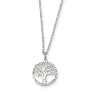 Sterling Silver Tree of Life Necklace QG4614