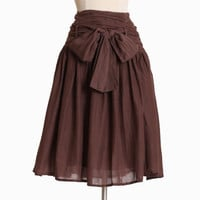 retail therapy skirt in brown - $36.99 : ShopRuche.com, Vintage Inspired Clothing, Affordable Clothes, Eco friendly Fashion