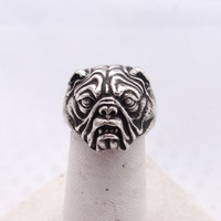 Boxer dog ring in solid sterling silver, Bulldog animal ring, English bulldog ring , French bulldog ring, Animal wrap ring US Dog lover ring