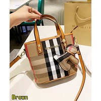 BURBERRY Fashion Women Shopping Leather Handbag Shoulder Bag Crossbody Satchel