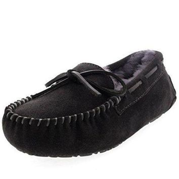 NOV9O2 Womens Moccasins Real Suede Loafers Slippers uggs for women