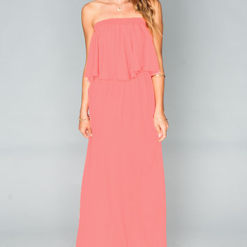 Show Me Your mumu Hacienda Maxi Dress ~ Bright Coral