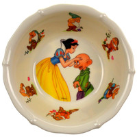 Snow White and the Seven Dwarves Childrens Bowl Selandia Plastic Vintage Dopey