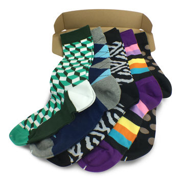 5 Pairs Men's Power Socks - Retro Rewind