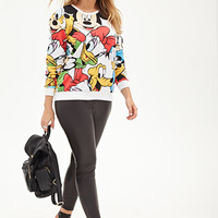 FOREVER 21 PLUS Disney Cartoons Graphic Sweatshirt White/Black