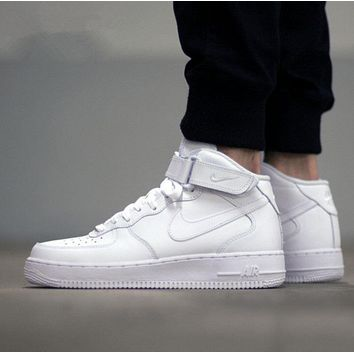 NIKE Fashion Trending Women Men Running Sport Casual Shoes Sneakers Heudauo high tops WHITE
