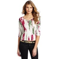 Kensie Women`s Painted Stripe Tee $38.00