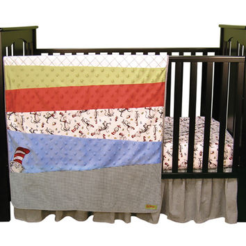 Dr. Seuss Cat In The Hat - 3 Piece Crib Bedding Set
