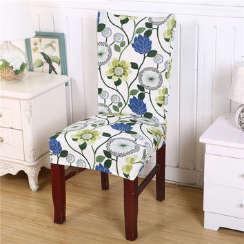 Chair Cover Flower Removable Washable Short Protector Super Fit Seat Covering Slipcover For Hotel Ceremony Dining Room Decor