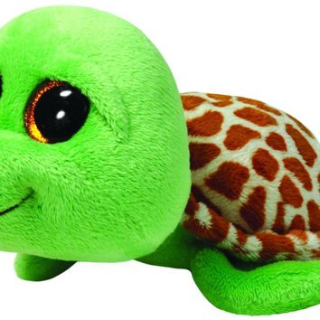 "NEW Zippy The Green Turtle 6"" Plush Beanie Boos Toy Doll TY"