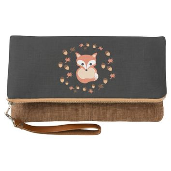 Fox in autumn clutch