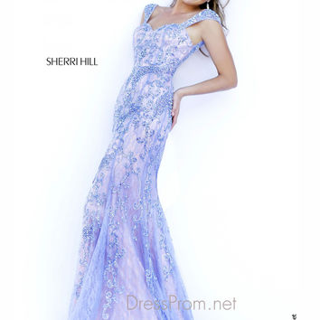 Sweetheart With Cap Sleeves Formal Prom Gown By Sherri Hill 9742