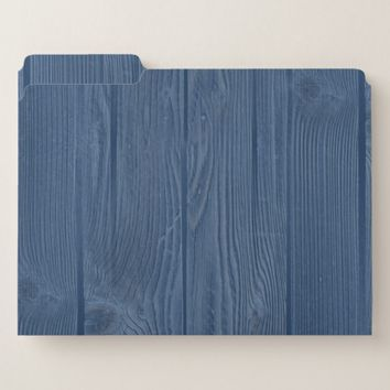 Old Wood Blue Rustic File Folders