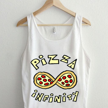 infinity pizza  Casual Wear Sporty Cool Tank top Funny Tank Cute Direct to garment