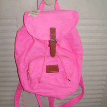 VICTORIA'S SECRET LOVE SURFER PINK SCHOOL BAG BACKPACK BOOKBAG TOTE BRAND NEW!
