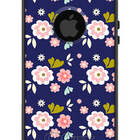 OTTERBOX Commuter iPhone 5 5S 5C 4/4s Case Navy Pink Antique Flower design FASHION SERIES Collection