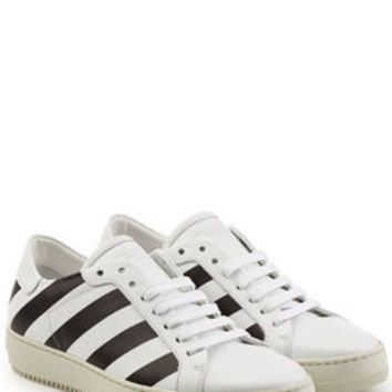 Printed Leather Sneakers - Off White | WOMEN | US STYLEBOP.COM