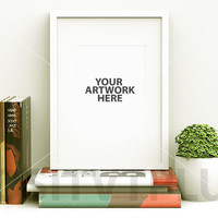 Poster Frame Photography Style / White Frame / Portrait / Clean / Simplicity / Mockup