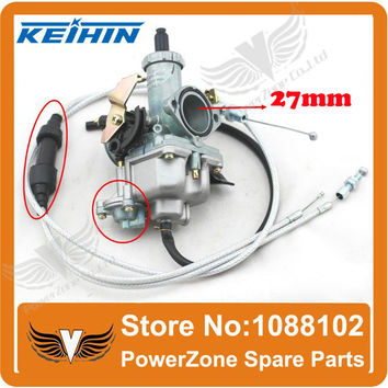 KEIHIN 27mm Carburetor With Accelerating Pump Accelerator Racing Performance 125cc 150cc Carburetor + Dual Throttle Cable