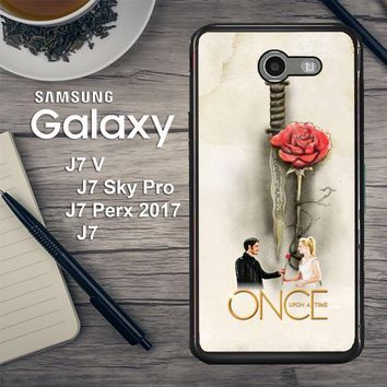 Once Upon A Time Rose X3423 Samsung Galaxy J7 V , J7 Sky Pro, J7 Perx 2017 SM J727 Case