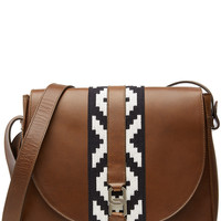 Vanessa Seward - Shoulder Bag with Contrast Fabric Panel