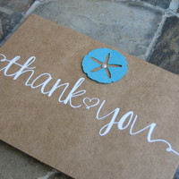 Set of 20 ~ Beach Wedding/Shower/Party Thank you Cards