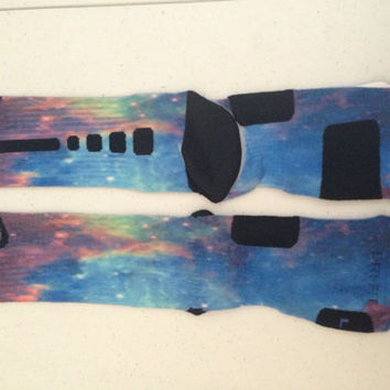 Custom Nike Elite Galaxy Socks by OverTimeInk72 on Etsy