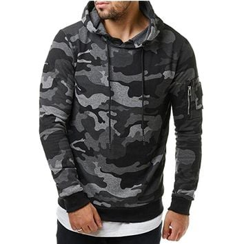 Men's Camouflage Slim Fit Pullover