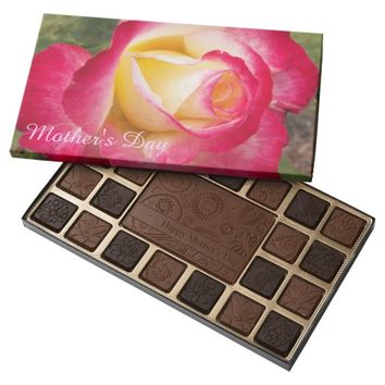 Pink Rose Bud Mother's Day 45 Piece Box Of Chocolates