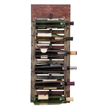 6 Bottle Distressed Shutter Wine Rack
