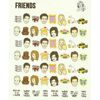 FRIENDS NAIL DECALS