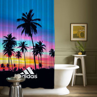 "Adidas Sunset Palm Beach High Quality Shower Curtain 60""x72"""