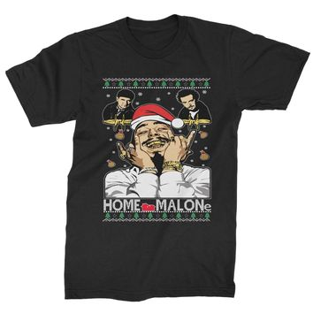Home Malone Ugly Christmas Mens T-shirt