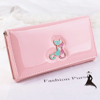 Women PU Leather Wallet With Cats