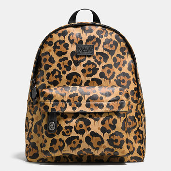 Small Campus Backpack in Wild Beast Print Leather