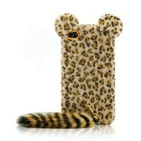 Leopard Print iPhone 4 4s Case with Panther Tail by Hallomall on Zibbet