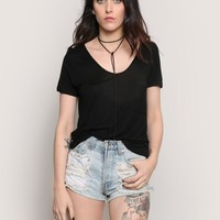 OUT FOR A SPIN TEE - BLACK