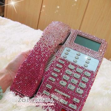 Bling and Sparkly Pink OFFICE / DESK PHONE to ensure a good conversation for every cal