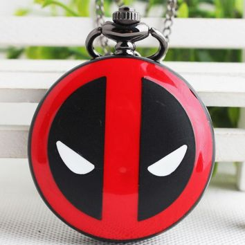 Deadpool Dead pool Taco Fashion  Pocket Watch Male Retro Necklace Korean Version Antique Man Women Pocket Watch   CF1056 AT_70_6