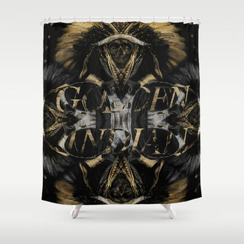 Golden Indian Shower Curtain by Rui Faria