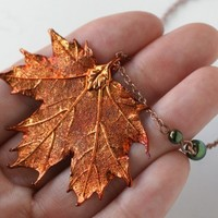 Fallen Leaf Necklace - Maple