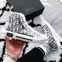 DIOR HIGH -TOP SNEAKER Sneakers transparent plastic skate shoes Women Men Shoes White