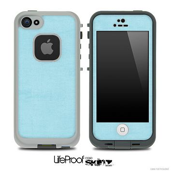 Vintage Textured Blue Skin for the iPhone 5 or 4/4s LifeProof Case