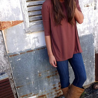 Brown 3/4 Sleeve Piko | The Rage