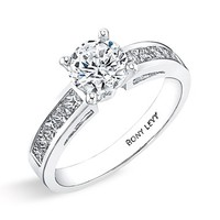 Women's Bony Levy Channel Set Diamond Engagement Ring Setting (Nordstrom Exclusive)