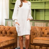 Fab Way Of Life Sweater Dress, White