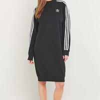 adidas Originals 3-Stripe Black Midi Dress - Urban Outfitters