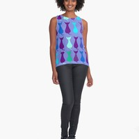 'Love Cats' Contrast Tank by Carmen Ray Anderson