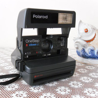 Polaroid Camera One Step Close Up 600 Film , Old Polaroid Camera , Vintage Camera , Vintage Polaroid, Camera Polaroid , Retro Polaroid