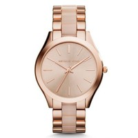 Slim Runway Rose Gold-Tone Acrylic Watch | Michael Kors